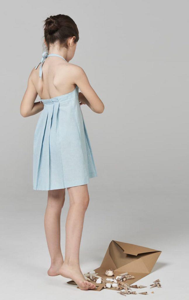 Annice vestido pliegues